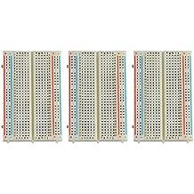 3X 400 Kontakte Breadboard Neuftech, Steckbrett Lochraste Laborsteckboard Experimentierboard für Raspberry pi / Arduino - Steckboard Steckplatine