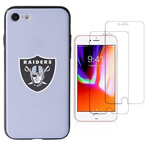Fall für iPhone 7/iPhone 8(11,9cm), Die 2Premium Displayschutzfolie Extra Value Set, 4.7 inch, Oakland Raiders ()