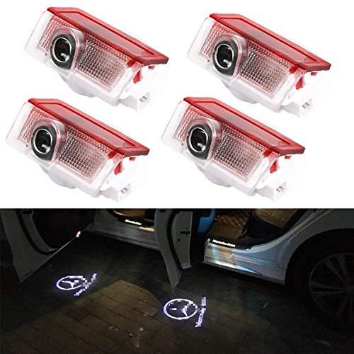 Proiettore di luce di cortesia con logo, per portiera auto, luce laser, 4 pezzi, per W166 W212 W246 W176 W205 X164 Benz Classe B Classe C Classe E Classe GL GLC GLE GLS GLA