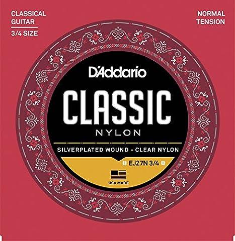 Guitares Classiques - D'Addario Cordes d'étude pour guitare classique 3/4