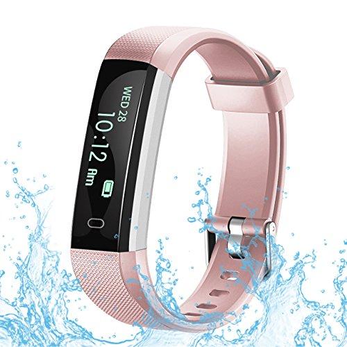 RobotsDeal Unisex U2 Step Activity Tracker Fitness Calorie Counter Pedometer Smart Watches for Kids Women Men, Pink, IP67 Waterproof