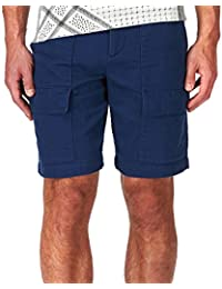 Romano Men's Cotton Denim Cargo Shorts Bermuda With Multi-Pockets