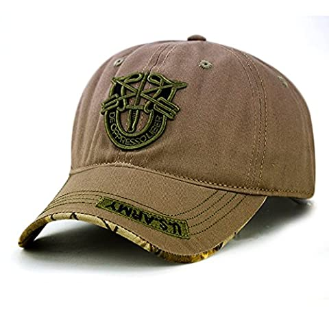 Chapeau de plage, chapeaux, extérieur Homme Camouflage Baseball Chapeau Visière Casquette, camel