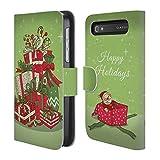 Head Case Designs Geschenke Christmas Essentials Brieftasche Handyhülle aus Leder für BlackBerry Classic Q20