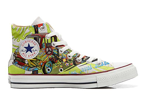 Converse All Star Chaussures Coutume Mixte Adulte (Produit Artisanal) Peace and Love
