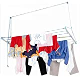 #10: Skylift Ceiling Mounted Cloth Drying Laundry Hanger Stand Rack With Pulley For Pull And Dry Easy Dry Systems 6 Feet X 2 Feet
