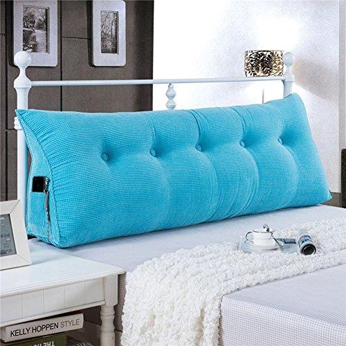 Vercart Wedge Pillow Bed Wedge Pillow Sofa Rückenlehne Kopfkissen,Keilkissen, Rückenkissen, Fernsehkissen, Ergokissen Weich und Bequem aus Softer Microfaser,Waschbar,Blau