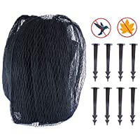 ANSUG Pond Cover Net, Pond Netting Garden Fish Pond Protect Against Deciduous Fox Heron with 8 Pcs Pegs (3 x 4m)