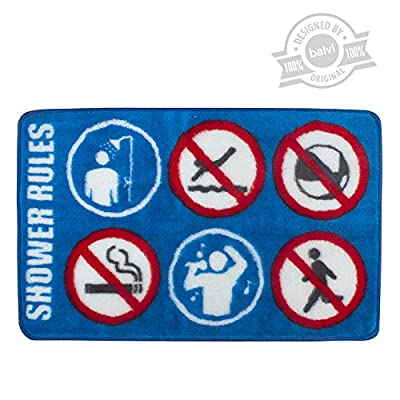 Balvi - Tapis salle de bain Shower Rules polyes/latex