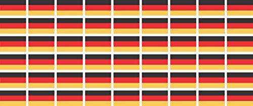 Mini Aufkleber Set - Pack glatt - 20x12mm - selbstklebender Sticker - Fahne - Germany - Deutschland - Flagge / Banner / Standarte fürs Auto, Büro, zu Hause und die Schule - 54 Stück (Mini 12-flag)