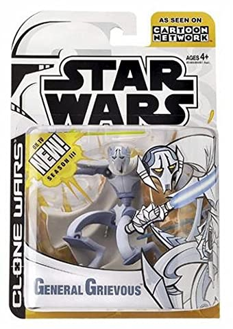 Star Wars The Animated Series GENERAL GRIEVOUS Figure Clone Wars 2003 by Hasbro