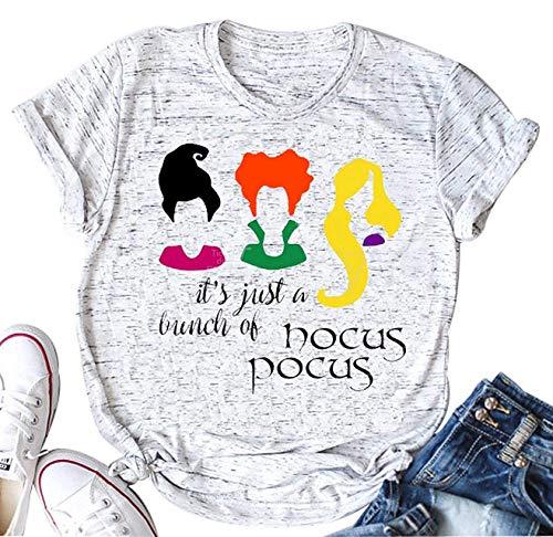 Hoyod Kürbis Halloween-T-Shirt für Damen, lustig, niedlich, Bedruckt, grafisch - Mehrfarbig - Groß