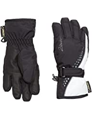 Ziener chica guantes Leni GTX R Gore caliente Girls guantes Junior, invierno, niña, color Negro - blanco/negro, tamaño 3,5