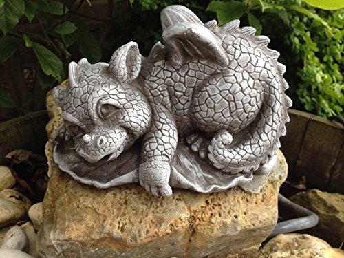 Steinfigur Drache Gartenfigur Frostfeste Steinfiguren für Haus und Garten