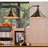 SBWYLT-American Hotel Hall tavolo lampada antico vintage rame ufficio lampada salotto camera da letto studio Lampada da tavolo di art deco