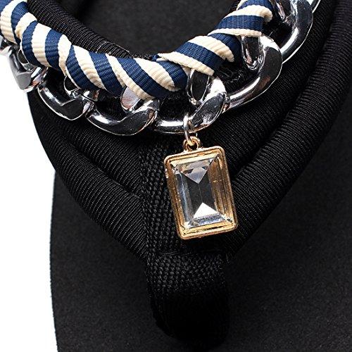 Aelegant Femme Tongs Été Pantoufles Chaussons à Talons Hauts Sandales avec Diamants de Véricle Hellblau streifen