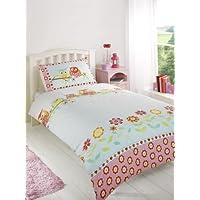 Childrens Girls Owls Duvet Cover Quilt Bedding