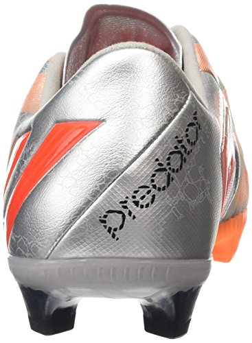 adidas Predator Instinct Fg, Chaussures Femme Metallic Silver/Infrared/Glow Orange S14