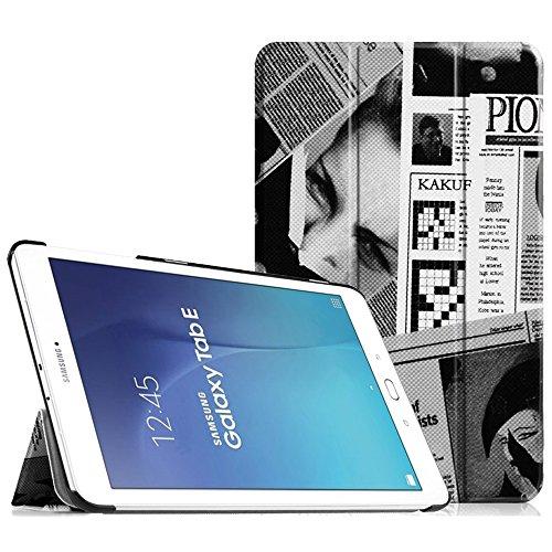 'Fintie Étui fin pour Samsung Galaxy Tab Galaxy Tab E 9.6 ZP-Newspaper