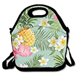 Hawaiian Pineapple Lunch Tote Insulated Reusable Picnic Lunch Bags Boxes For Men Women Adults Kids Toddler Nurses
