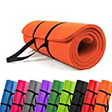 PROMIC Grand Tapis De Yoga Rembourré avec Sangle De Transport pour Pilates, Sport,...