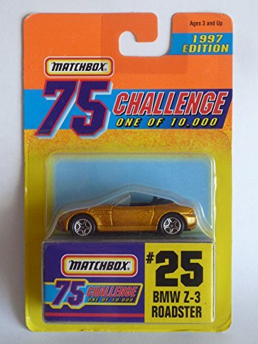 matchbox-1997-75-challenge-gold-collection-1-of-10000-25-bmw-z-3-roadster-by-tyco-toys-inc