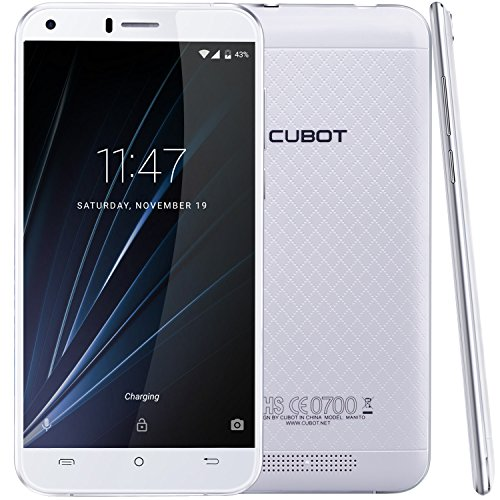 Cubot Manito Smartphone ( 12,7 cm (5 Zoll) HD Touchscreen, 16 GB, Android 6.0) weiß (T-mobile-iphones 6)