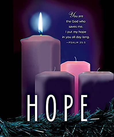 Hope Advent Candle Sunday 1 Bulletin, Large, Pkg of 50: Package of 50
