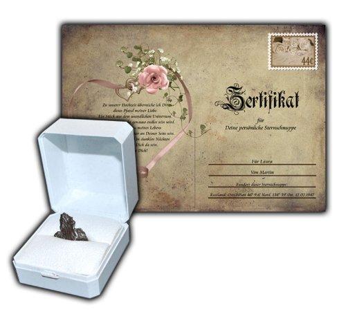 FUNICE Die echte Sternschnuppe zur Hochzeit mit persönlichem Zertifikat mit Ihrem Wunschtext oder Mustertext