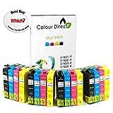 Colour Direct 16 XL, cartuchos de tinta, de alta capacidad, compatibles, reemplazo para impresoras Epson WorkForce WF-2010 W, WF-2510WF, WF-2520NF, WF-2530WF, WF-2540WF