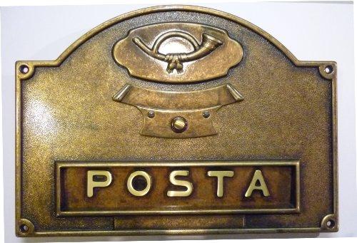 Btv - Bocacartas rustico 40 180x340 laton antiguo