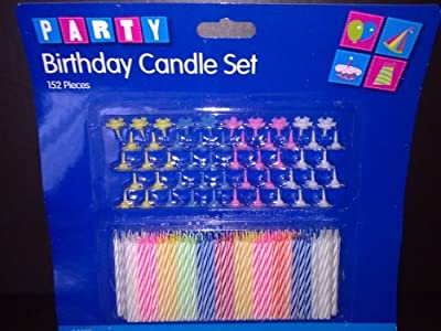 Birthday Candle And Holder Set -152 Pieces