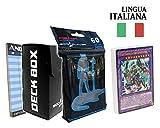 Andycards Structure Deck Yugi Muto - Mazzo Yugioh SDMY in Italiano + 60 Bustine Protettive God-Player Nere + Deck Box Nero + Segnapunti
