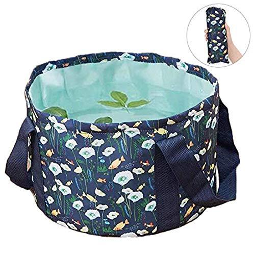 Faltbarer Eimer Outdoor Camping Becken Wassersack Tragbar Faltschüssel Leicht Groß Waschbecken 15L Wasserbehälter Fuß Becken Multifunktion Wassereimer für Wandern Angeln Geschäftsreise