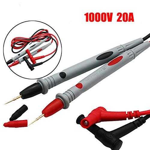 jumpeasy 1000V 20A werkzeug elektrische messung inspektion nadel hat die sonde 90cm kabel multimeter test führt
