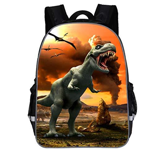 Dorical Schulrucksack für Kinder Kleinkinder Dinosaur Drucken Rucksack, Studenten Schultasche, Daypack Reise Backpack für Schüler Outdoor Freizeit, für Junge und Mädchen 3-10 Jahre(Gelb)