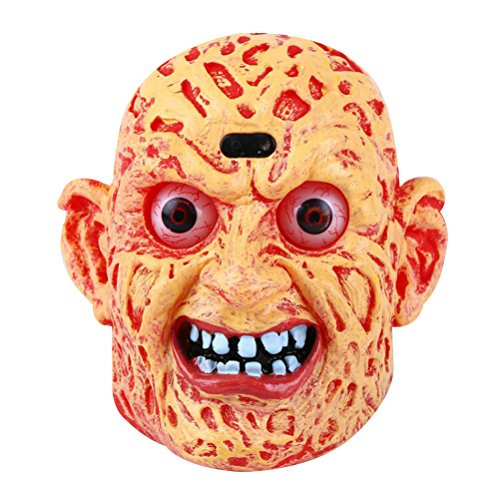 (BESTOYARD Halloween Teufel Kopf Dekoration Sprachsteuerung Spielzeug lustige Gruselige Modell mit Miniatur-Batterie Figur für Halloween Party Zeichnung Probe und Dekoration)