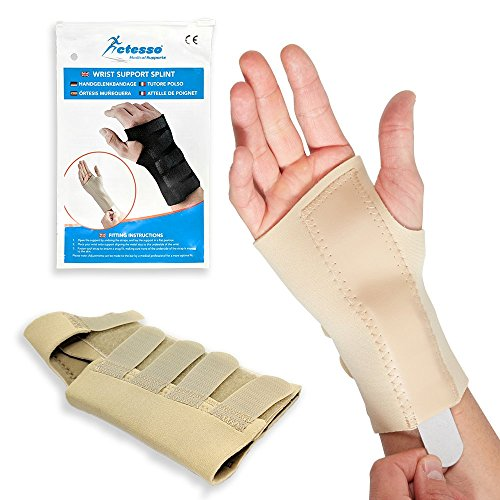 Actesso Beige Wrist Support Brace for Carpal Tunnel, Sprains, and Arthritis. Medically Approved