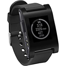 "Pebble Classic - SmartWatch (pantalla 1.26"", Bluetooth, 128 KB, ARM Cortex-M3), color negro"