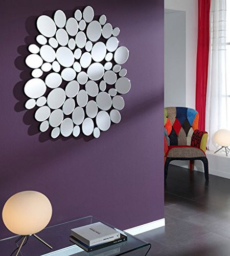 Espejos-de-cristal-moderno-Modelo-PIEDRAS-Circular
