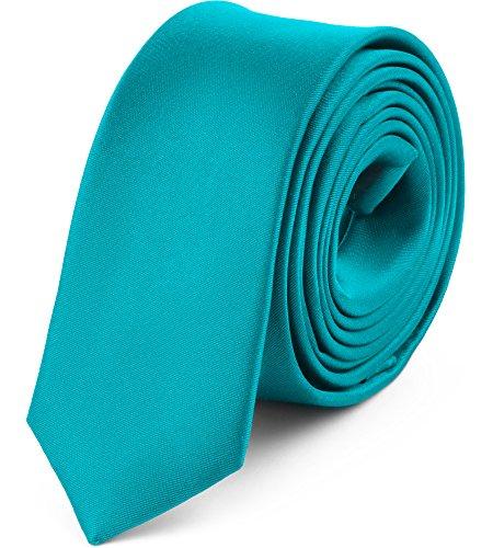 Ladeheid Corbatas Estrechas Diversidad de Colores Accesorios Ropa Hombre SP-5 (150cm x 5cm, Turquesa)