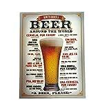 LB H&F Blechschild Blech Bier Metallschild Bierglas Sprachen Lernen Cheers