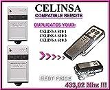 Celinsa S10 1 / Celinsa S10 2 / Celinsa S10 3 compatible mando a destancia, 433,92Mhz fixed code CLON, 4-canales reemplazo transmisor Al mejor precio!
