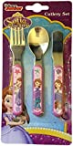 "Disney ""Sofia Pearl of The Sea"" Cutlery Set, Metal, Pink, 3-Piece"