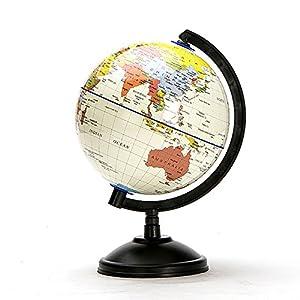 Naisidier Globos Interiores notación Inglesa Recomendada para Profesores y Estudiantes Guantes educativos, Guantes inflables del Mundo, Rotary, HD y Compressed 14,16 cm Mapa de Tierra