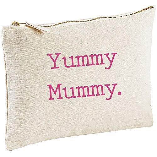 Sac à langer Motif Yummy Mummy Toile naturelle Make Up sac cadeau Idée Cadeau Sac cosmétique trousse de toilette cadeau Mum Fête des Mères anniversaire Noël