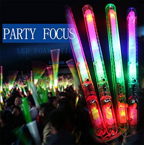 Remaxm LED-Magischer Zauberstab, Blinkender Leuchtstab mit Farbwechsel, Mehrfarbig, leuchtende, blinkende Rave Sticks LED Blinkende Stroboskopstäbe Konzerte Party Glow