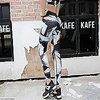 MaMaison007 Donne Leggings stampati digitali ad alta elasticità Sport Yoga