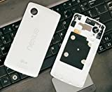 White Replacement Battery Door Panel Housing Back Cover Case with NFC for LG Google Nexus 5 D820