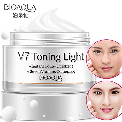 BIOAQUA 50g V7 Toning Light Cream Whitening Skincare Moisturizing Women Face Cream Skin Care Products Anti Acne Whitening Mask